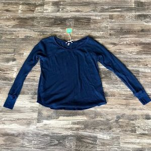 Victoria's secret blue thermal longsleeve shirt